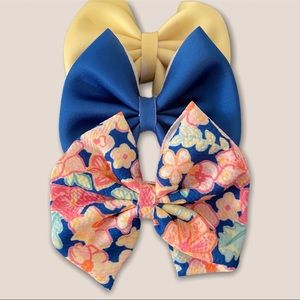 3 hair bow set